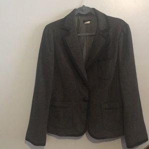 J. Crew gray tweed blazer